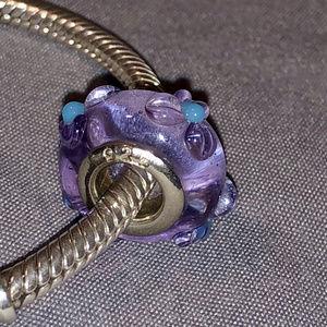 Adorable purple charm for PANDORA bracelet!